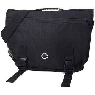 DadGear All Black Courier Diaper Bag