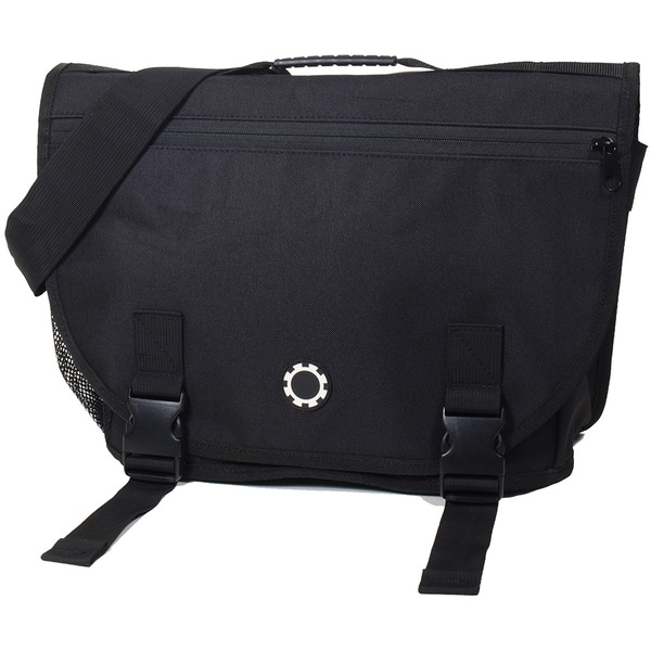 DadGear All Black Courier Diaper Bag