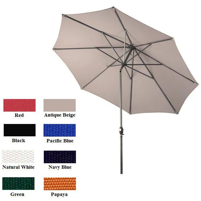 Lauren & Company Premium Olefin 9-foot Aluminum Patio Umbrella