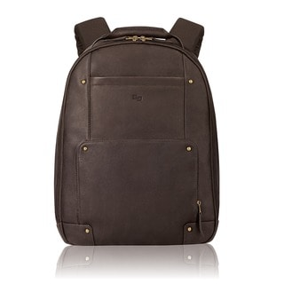 Solo Executive Leather 15.6-inch Laptop Backpack