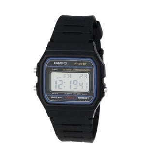 Casio Men's 'F91W-1' Water-resistant Black Watch