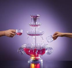Nostalgia Electrics LPF210 Lighted Punch Fountain Beverage Set