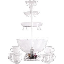Nostalgia Electrics Lighted Punch Fountain Beverage Set