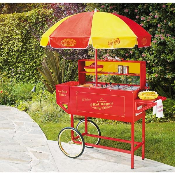 Nostalgia Electrics Vintage Carnival Hot Dog Cart