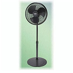 Lasko 2527 16-inch Black Adjustable Pedestal Fan
