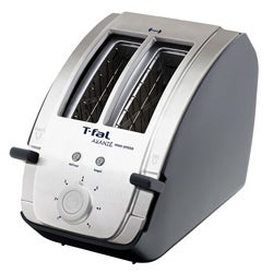 T-Fal Avante Deluxe Stainless Steel and Black 2-slice Toaster