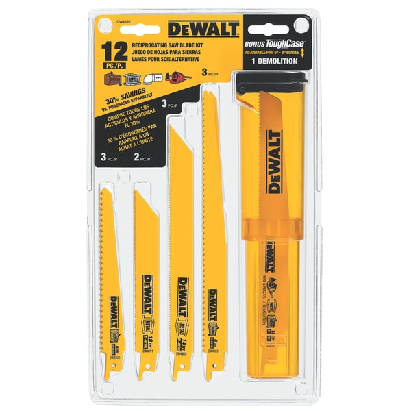 Dewalt Bi-Metal Reciprocating Saw Blade Set