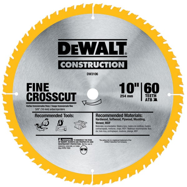 Dewalt Series 20 60 Teeths Fine Finish Saw Blade