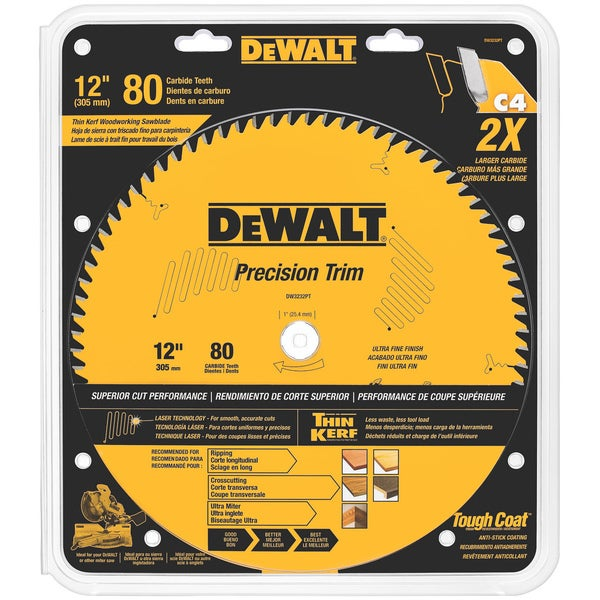Dewalt 80 Teeth Fine Crosscutting Saw Blade