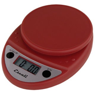Escali P115WR Primo Digital Kitchen Scale 11Lb/5Kg, Warm Red