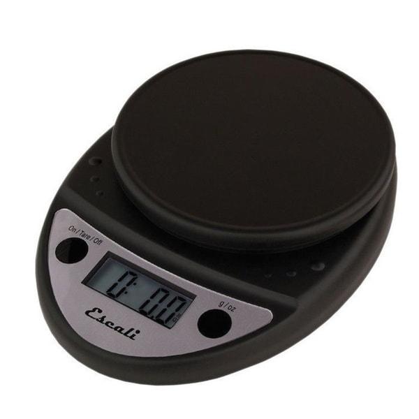Escali P115CH Black Primo Digital Kitchen Scale 11Lb/5Kg