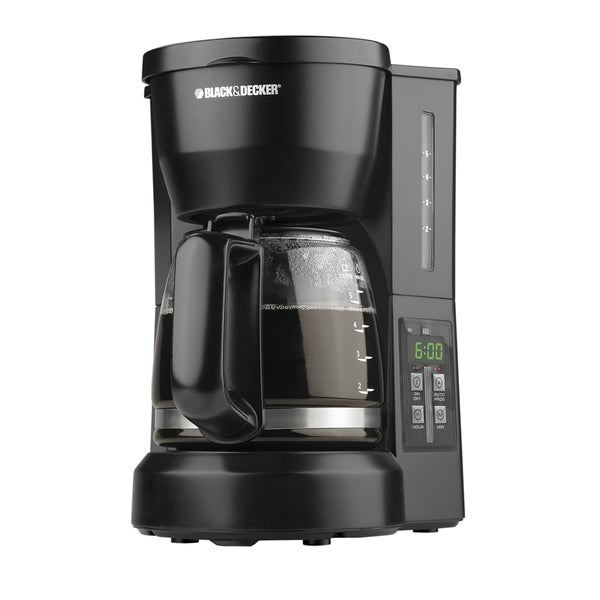Black And Decker Coffee Maker Permanent Filter : Black & Decker 5 cup Drip Programmable Coffeemaker with Permanent Filter Black & Decker Coffee ...