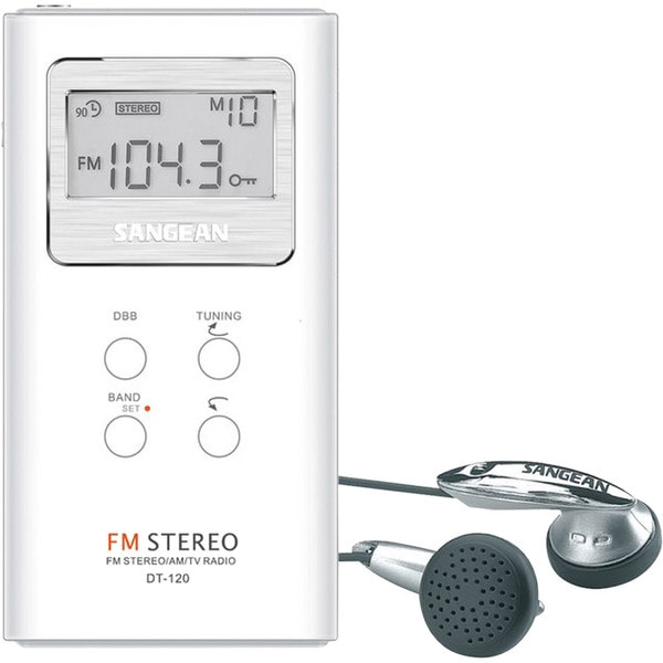 Sangean DT-120 AM/FM Stereo Pocket Radio