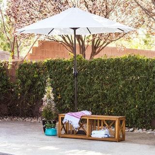Lauren & Company Premium Olefin 9-foot Patio Umbrella with Stand