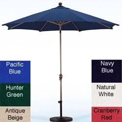 Premium Olefin 9-foot Patio Umbrella with Stand
