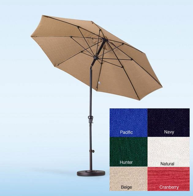 Lauren & Company Fiberglass Olefin Crank and Tilt 9-foot Umbrella