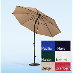 Fiberglass Olefin Crank and Tilt 9-foot Umbrella