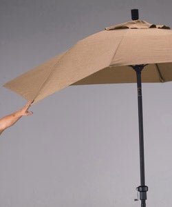 Fiberglass and Olefin 9-foot  Umbrella with Stand