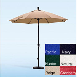 Lauren & Company Fiberglass and Olefin 9-foot Umbrella with Stand