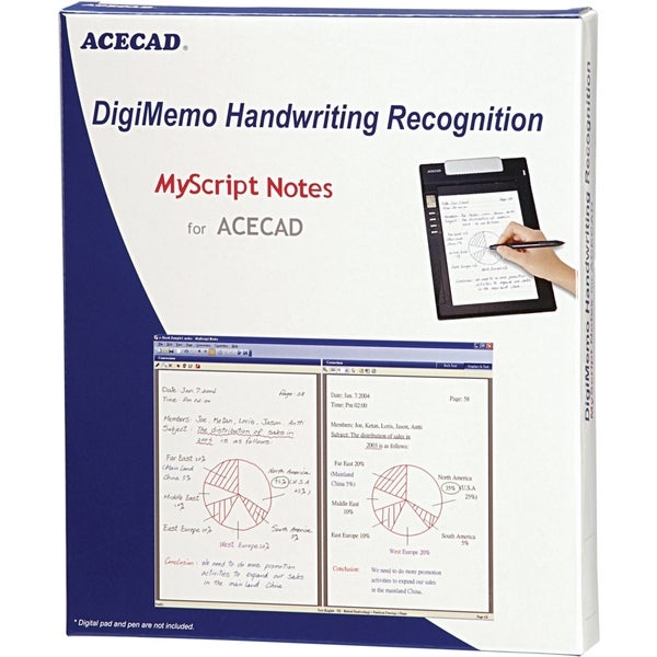 Solidtek ACECAD DigiMemo Handwriting Recognition software DM-OCR
