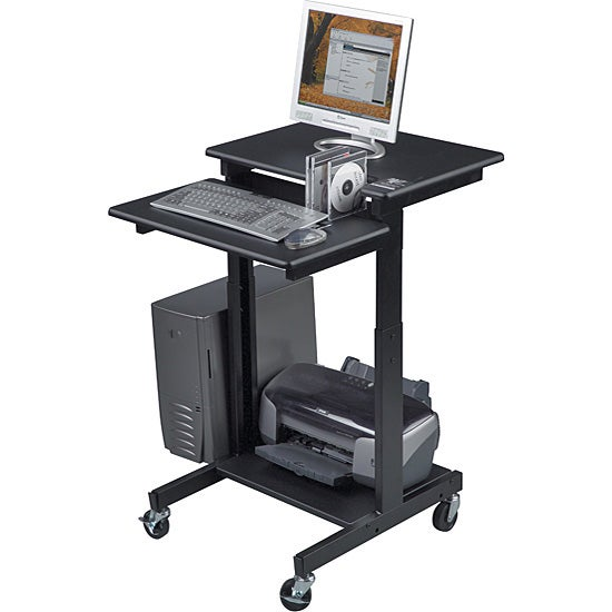 Balt Height Adjustable Computer Workstation and AV Cart