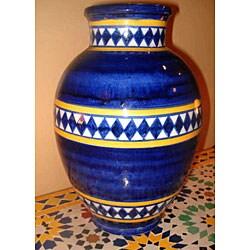 Nauticale Diamond Ceramic Vase (Morocco)