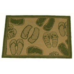 Flip Flop Indoor/ Outdoor Area Rug (3'11 x 5'6)