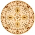 Handmade Oushak Ivory Wool Rug (6&#39; Round)