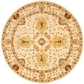 Handmade Oushak Ivory Wool Rug (8&#39; Round)