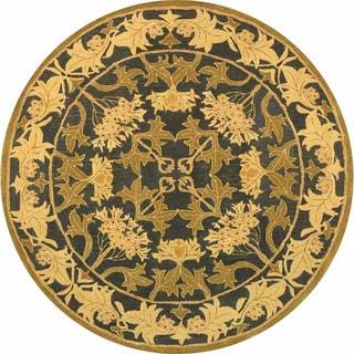 Safavieh Handmade Mahal Navy/ Sage Wool Rug (6' Round)