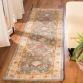 Handmade Legacy Light Blue Wool Runner (2&#39;3 x 10&#39;)