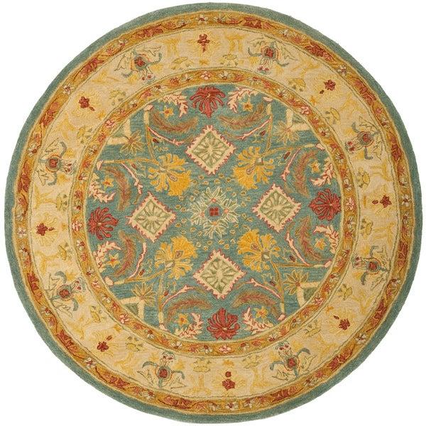 Safavieh Handmade Legacy Light Blue Wool Rug (4' Round)