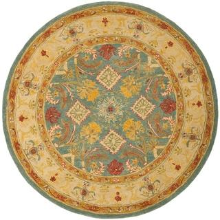Safavieh Handmade Legacy Light Blue Wool Rug (6' Round)