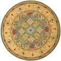 Safavieh Handmade Legacy Light Blue Wool Rug (8' Round)