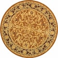 Safavieh Old World Hand-spun Brown Gold/ Plum Wool Rug (6' Round)