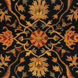 Handmade Mahal Black/ Beige Wool Rug (6' x 9')