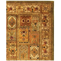 Handmade Classic Empire Wool Panel Rug (8'3 x 11')