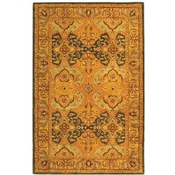 Safavieh Handmade Treasure Gold/ Green New Zealand Wool Rug (5' x 8')