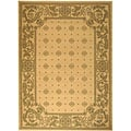 Indoor/ Outdoor Beaches Natural/ Olive Rug (7'10' x 11')