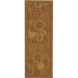 Safavieh Indoor/ Outdoor Resort Brown/ Natural Runner (2'4 x 6'7)