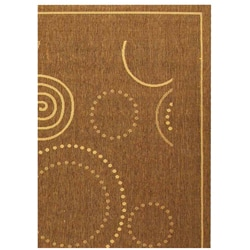 Indoor/ Outdoor Resort Brown/ Natural Rug (7'10 x 11')