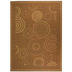Safavieh Indoor/ Outdoor Resort Brown/ Natural Rug (7'10 x 11')