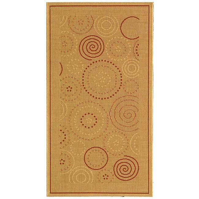 Safavieh Indoor/ Outdoor Resort Natural/ Terracotta Rug (2'7 x 5')