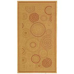 Safavieh Indoor/ Outdoor Resort Natural/ Terracotta Rug (2'7 x 5')