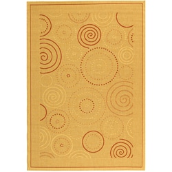 Safavieh Indoor/ Outdoor Resort Natural/ Terracotta Rug (4' x 5'7)