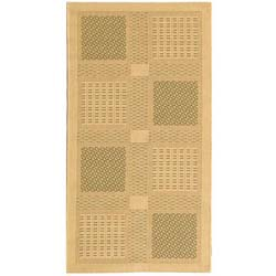 Indoor/ Outdoor Lakeview Natural/ Olive Rug (2'7 x 5')
