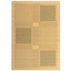 Indoor/ Outdoor Lakeview Natural/ Olive Rug (6'7 x 9'6)