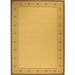 Indoor/ Outdoor Oceanview Natural/ Brown Rug (7'10' x 11')