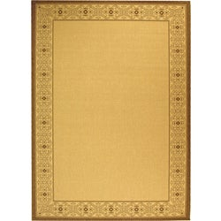 Safavieh Indoor/ Outdoor Oceanview Natural/ Brown Rug (7'10' x 11')