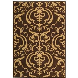 Safavieh Indoor/ Outdoor Bimini Chocolate/ Natural Rug (6'7 x 9'6)